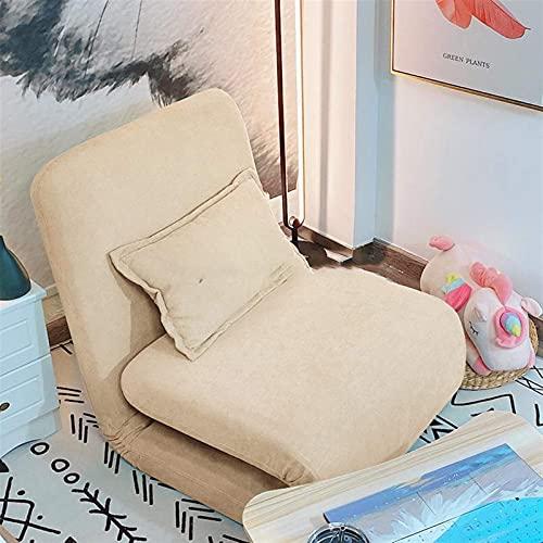 ZFFSC Sofá Perezoso WSZMD Lazy Sofa Tatami Cama Individual sentada y durmiendo Dormitorio del balcón en el Suelo pequeño Sofá reclinable Sofá Perezoso (Color : 2)