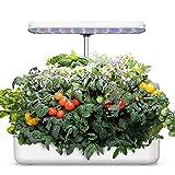 WISREMT Sistema de cultivo hidropónico, kit de inicio de jardín con luz LED para cultivar jardín, maceta inteligente de jardín, kit de germinación automática de temporizador, altura ajustable