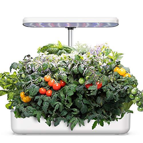 WISREMT Hydrokultur-Anzuchtsystem, Indoor-Kräutergarten, Starter-Kit mit LED-Wachstumsleuchte, Smart Garden Pflanzgefäß, Automatischer Timer Keimungsset, Höhenverstellbar