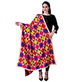 """Authorized Seller: SWI Stylish Meaning of Phulkari: The word """"Phulkari"""" has its origins in Punjab which means flower work. This is an emboidery technique which can be found in the holy city of Amritsar. Phulkari Dupattas are highly admired by people ..."""
