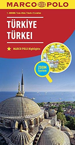 Marco Polo Turkije: Wegenkaart 1:800 000
