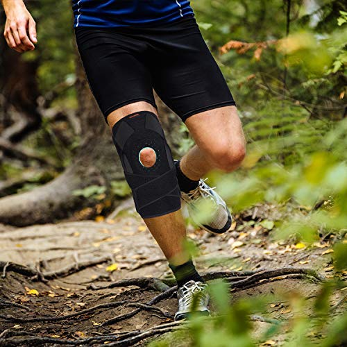 Thx4COPPER Hinged Knee Brace - Adjustable Open Patella with Straps & Side Stabilizers - Compression Support for Protection & Pain Relief - Trauma, ACL, LCL, MCL, Tears, Arthritis,Tendon, Injuries