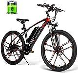 MQJ Ebikes 26 Pulgadas Bicicleta Eléctrica 350W 48V 8Ah Motor Motor Bike Resistente Al Agua 30Km / H High Speed E-Bike Hombres Adulto/Ciudad/Off-Road Trip