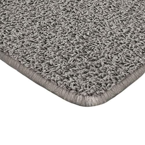 Floori Shaggy Hochflor Teppich - 200x290cm - moderner Wohnzimmerteppich - grau/anthrazit