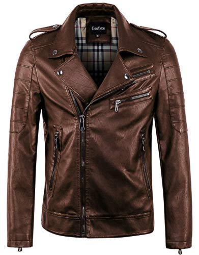 Mens Brown Leather Jackets Small