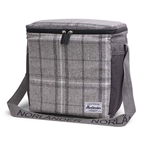 Outdoor Coolerbag Checkered sporttas, 36 cm, 21 L, grijs