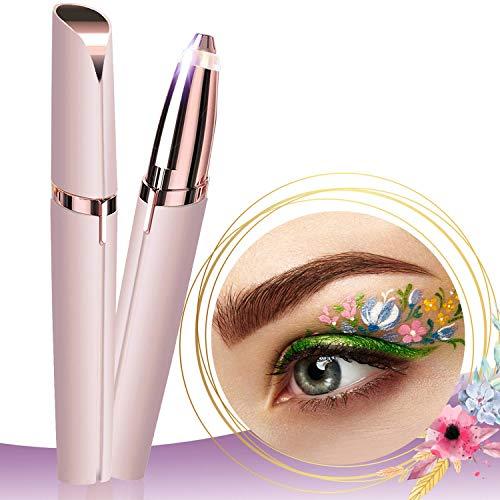Épilateur électrique pour sourcils, cheveux indolores pour les femmes et tondeuse faciale pour le nez, les poils des sourcils (USB)