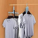 ONEYUE Perchas mágicas para ropa, plegables, para ahorrar espacio, para ropa,...