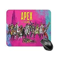 Apex Legends 耐久性のあるマウスパッド 滑り止め ワイヤレスマウスラップトップコンピュータオフィスデスクホーム用の滑らかな布マウスマット 18*22cm