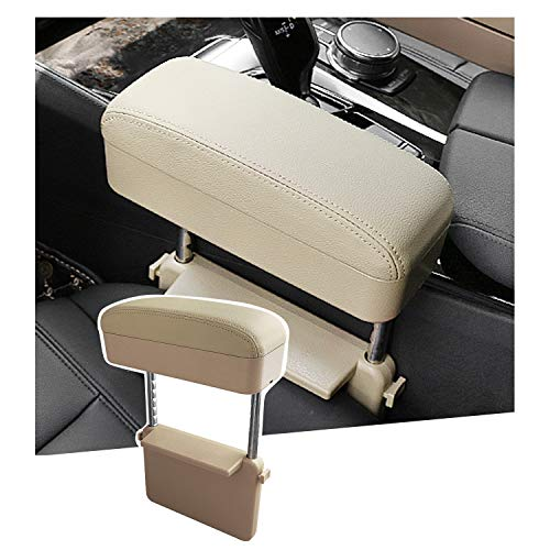 SHAOHAO Universal armrest extender, armstödsdyna armbågsstöd arrangör, justerbar höjd komfort armbåge forearm brost rest, mittkonsol justerbar bekväm (beige