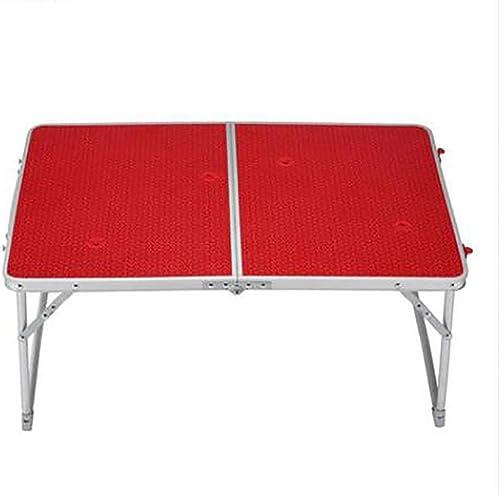 GUO Aluminium extérieur léger commodité basse table table pliante en bois rectangulaire