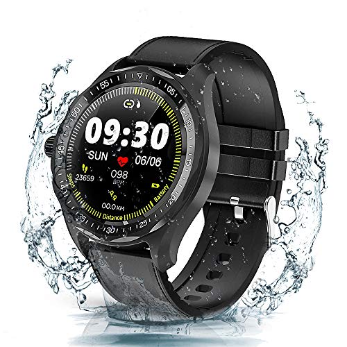 Smart Watches, Fitness Tracker, 1.3'' Full Round HD Color Touch Screen, Activity Tracker with Heart Rate Monitor, IP68 Waterproof Smartwatch for iOS and Android Phone