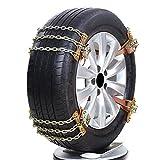 Cadenas de nieve, 4 unidades, 6 unidades, acero antideslizante, cadena de seguridad para coche, camión, SUV, color A: 4S