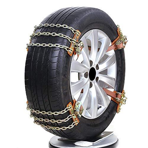 Yunhigh 6 stücke Schneeketten Autoreifen Ketten Universal Anti Skid Notfall Seilzug Sicherheitsketten Einstellbar für Auto SUV LKW
