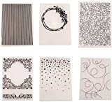 Multi Styles Plastic Embossing Folder Template Craft Embossing Folders for Scrapbooking Paper Card Making Decoration Supplies, DIY Hand Stamps Template Mold Fondant Cake Decorating Tools