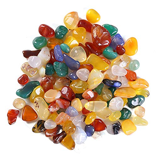 IWILCS Edelsteine, Halbedelsteine, Steinperlen, 100gEdelsteinperlen Naturform Perlen, 9mm bis 12mm Quarzperlen,für Kinder, zur Dekoration, als Heilsteine & Handschmeichler, Edelsteinspiele UVM