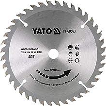 YATO YT-60583 - TCT sierra circular para madera 170 * 16 mm 40t