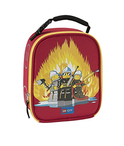 LEGO Kids City Fire Lunch Backpack, Red, One Size