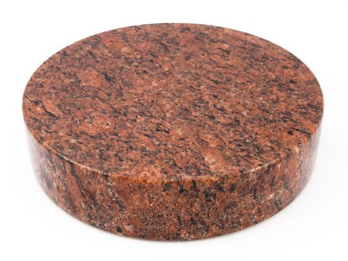 ABC Granitsockel Sockel aus Granit Rund Grabsockel Trittstein Granitplatte Rund Vanga