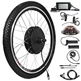 Voilamart 26' Rear Wheel Electric Bicycle Conversion Kit, 48V 1500W E-Bike Motor Kit with LCD Display, Built-in Programmable Controller and PAS System, 750W Power Limited for Road Bike