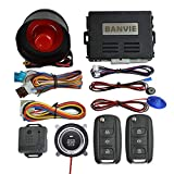 BANVIE Car Alarm System with Remote Start & Push to Engine Start Stop
