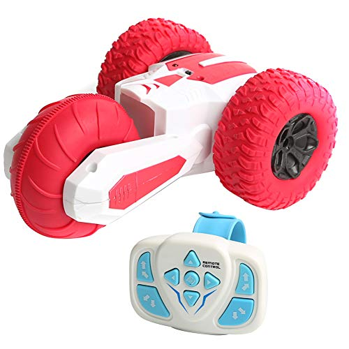 Watkings 2.4G Three-Wheeled Rotating Stunt Car Wireless Watch Remote Control Electric Toy for Children