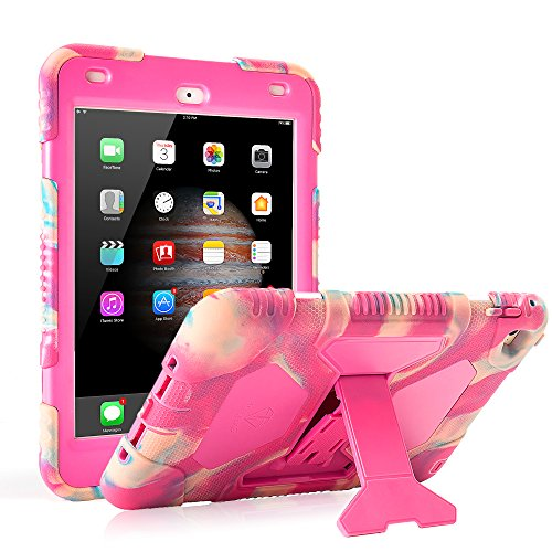 iPad Mini 4 Case ACEGUARDER Full Body Protective Premium Soft Silicone Cover with Adjustable Kickstand (Candy)