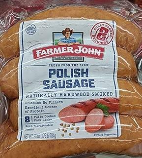 Farmer John Smoked Polish Sausage 28 Oz (2 Pack)
