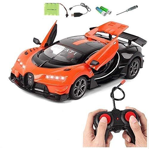 ZHWDD Los niños de Carga de Control Remoto de Coches de Alta Velocidad Drift Car Racing Buggy Hobby Juguetes del Coche LED de luz Puede Abrir la Puerta Niños Niñas cumpleaños Año Nuevo elé