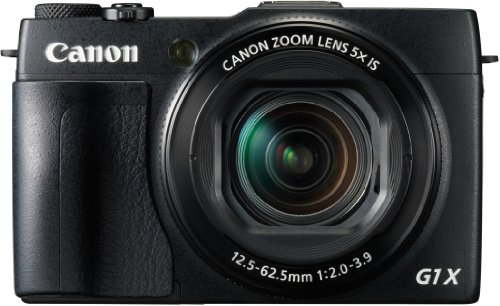 Canon PowerShot G1X Mark II Digitalkamera (12,8 MP, CMOS Sensor, 5-fach optischer Zoom, 1:2-3, 9, 24-mm Weitwinkel, Full-HD) schwarz