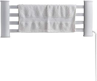 Secadora de toallas eléctrica de aluminio con espacio de montaje en pared eléctrica, radiador de baño inteligente de temperatura constante No es fácil de oxidar Plata 55x65cm