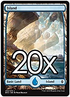 20 Battle for Zendikar Island #255 Magic the Gathering Basic FULL ART Land Lot