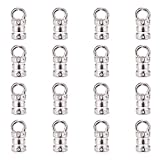 NBEADS 500 Pcs Silver Color Tibetan Style Alloy Cord Ends, Glue-in Style Fasteners Necklace Cord Tassel End...