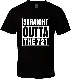 Straight Outta the 721 Sint Maarten Area Code NWa Parody T Shirt 2XL Black
