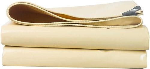 HongTeng Bache imperméable de Parasol Jaune, Poly abri de Windproof de bache portative pour Le Voyage extérieur de Camping (Taille   5x7m)