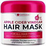 Bellisso Apple Cider Vinegar Hair Conditioner Mask - Deep Treatment with Argan Oil for Dry Damaged Hair - Split End Moisturizer, Hydrating Conditioning Product