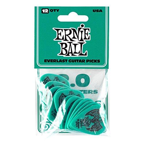 Ernie Ball 2.0mm Verde Petrolio Everlast Plettri 12 per confezione