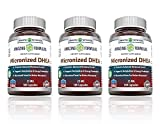Amazing Formulas Micronized DHEA Dietary Supplement - 25mg Pure - 180 Pills Per Bottle - Dehydroepiandrosterone Vitamin Capsules - Pack of 3