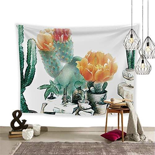WERT Kaktus Pflanze gedruckt Tapisserie Wandbehang Nordic Home Wohnzimmer Schlafzimmer Stoff hängen Malerei Hintergrund Dekoration A3 150x130cm