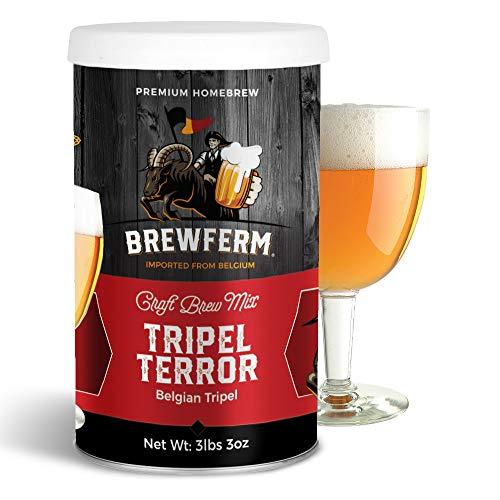 Brewferm Belgian Tripel Terror Brew Mix - 9 liters/2.5 gal - 9.2% ABV - Premium Homebrew Craft Brew Mix