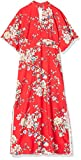 Amazon-Marke: TRUTH & FABLE Damen Kleid , Mehrfarbig (Red) , X-Small