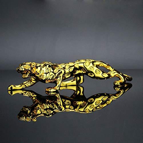 YUNDING Tablero de instrumentos del coche Ornamentos del coche estatuilla de leopardo Cool Auto Automóviles Interior Dashboard Resina Artesanías Decoración del Hogar Accesorios Regalo