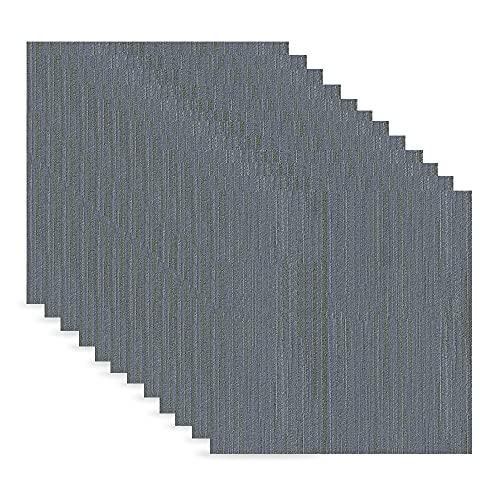 12 Pièces Revêtement de Sol En Vinyle, Marbre Sticker Sol Carreaux, Stickers Adhésifs Carrelages pour Cuisine, Salle de Bain, Autocollant en PVC, 30 x 30 cm (8514)