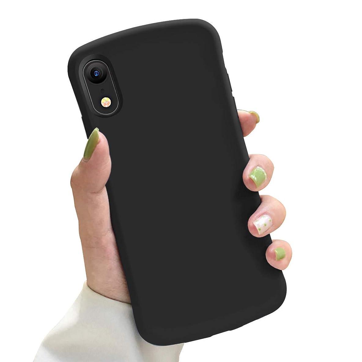 雪の三角不毛iPhone XR ケース TPU シリコン 耐衝撃 米軍MIL規格取得 驚くほどの手触り 指紋防止 防塵 人気 全面保護 スマホケース 6.1インチ ブラック