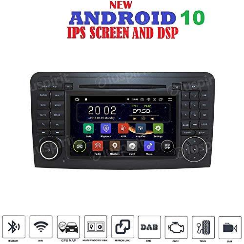 ANDROID 10 GPS DVD USB SD WI-FI Bluetooth autoradio 2 DIN navigatore per Mercedes classe ML W164 / ML300 / ML350 / ML450 / ML500 / Mercedes classe GL X164 / GL320