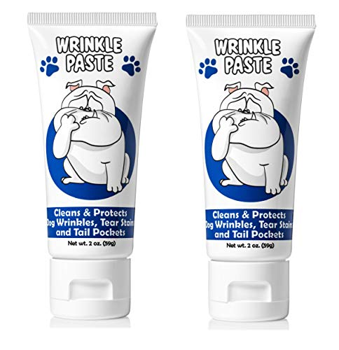 Squishface Wrinkle Paste - 2 Tubes - Cleans Wrinkles, Tear Stains and Tail Pockets - 2 Oz,...
