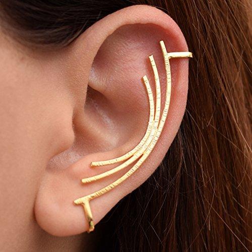 Brazalete de oreja de oro sin piercing, puño earcuff no perforado, earcuff minimalista, pendiente hélice, pendiente hipoalergénicos, trepador del oído
