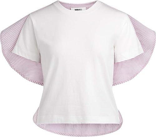 MAISON MARGIELA Camiseta Camisa MM6 blancoa con líneas