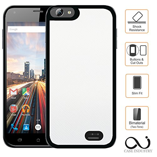 Mobilefashion Custodia Protettiva Case Cover per Archos 50 Helium Plus - Esterno modello Blanc Purity Collection Exception Cuoio PU - Case Industry