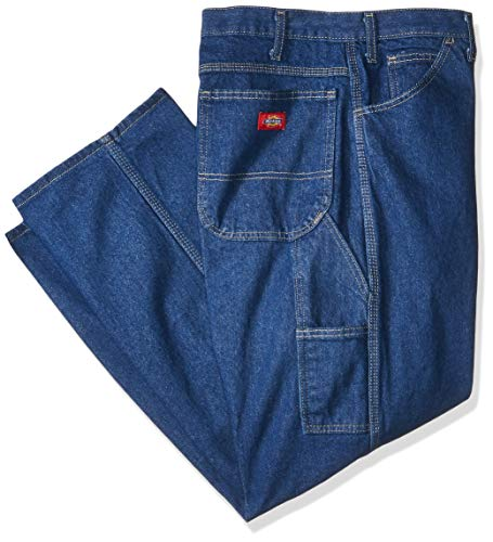 Dickies Men's Industrial Carpenter Jean  Rinsed ,Indigo Blue , Size: 34W x 30L